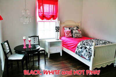 Black white pink bedrooms pinkmaiooona - Hot pink room ideas ...