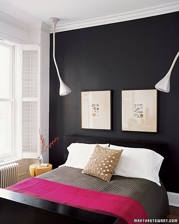 Black, white & Pink Bedrooms | Sweet.